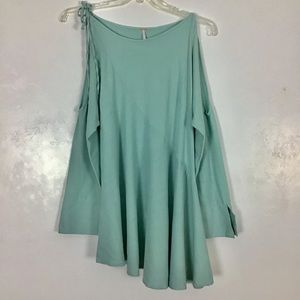 Free People Clear Skies Tunic Top Cold Shoulder